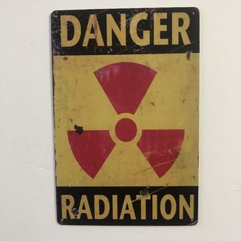 Radiation Vintage Metal Sign