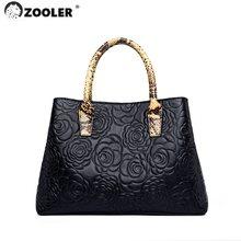 ZOOLER Business Frauen Taschen Aus Echtem Leder Handtasche Geprägte Hohe Qualität Luxus Haut Leder Schulter taschen Designer Schwarz # yc229