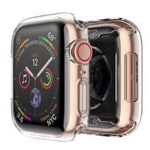 Laforuta Case for Apple Watch Series 4 Screen Protector 44mm 40mm Cover Full TPU Clear Bumper Ultra-Thin iWatch Shell