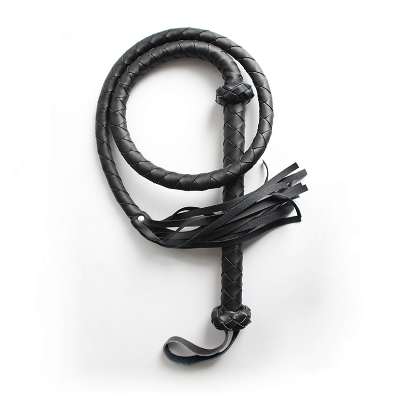Best Selling Hand-woven PU Horse Whip Riding Crop Flogger Equestrian Leather Whip Horse Horse Equipment