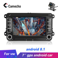 Camecho Android 8.1 GPS 7inch MP5 Multimedia Player Car Radios Audio Stereo Bluetooth Auto Radio For Seat/Skoda/Passat/Golf/Polo