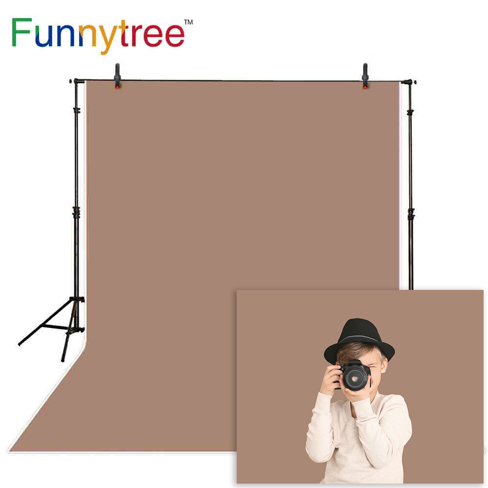 Funnytree photography background gray brown Baby new year solid color backdrop photo studio photocall photobooth photophone