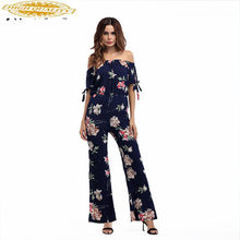2020 Zomer Chiffon Bodysuit Ol Elegent Overalls Voor Vrouwen Kleding Plus Size 2XL Casual Jumpsuits 5397 YY053(China)