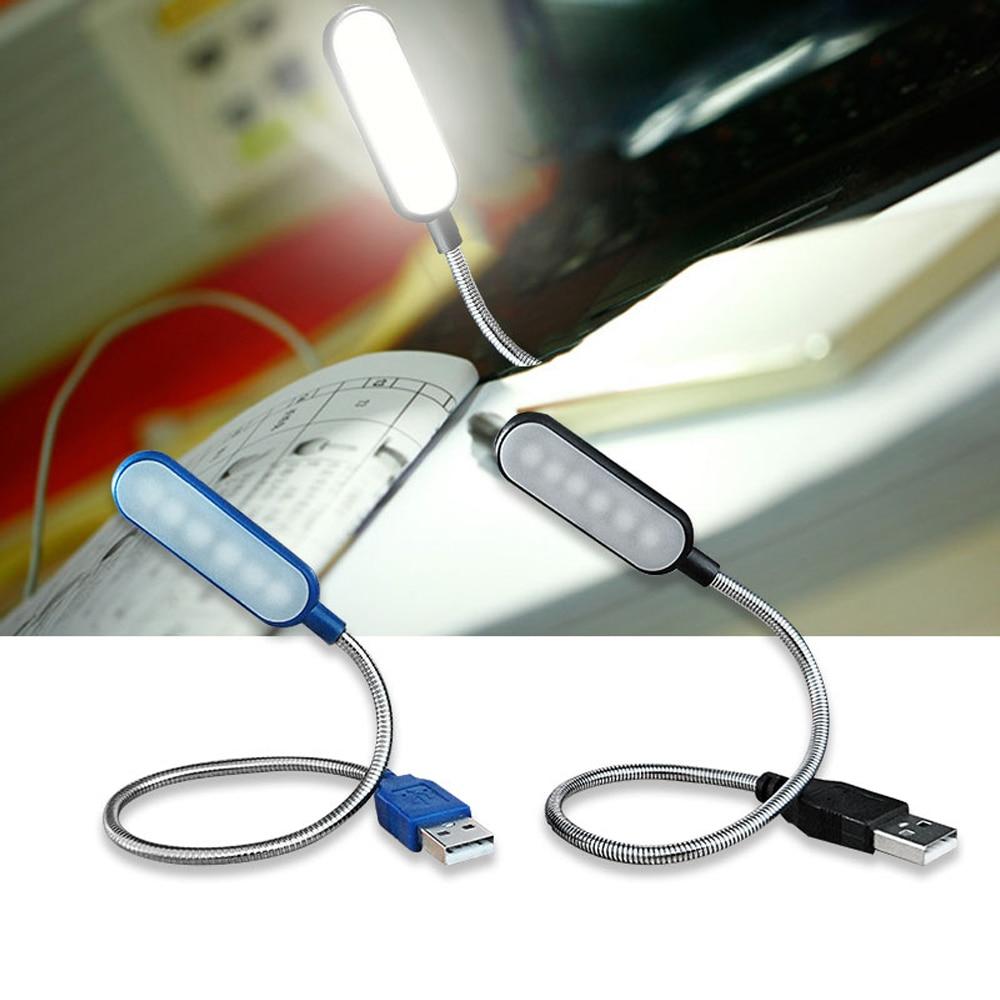 Hot Portable USB LED Mini Book Light Reading Light Table Lamp Flexible 6leds USB Lamp for Power Bank Laptop Notebook PC Computer