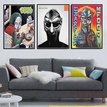 Canvas Painting Posters Music-Album Mf Doom Prints Vintage Decoration Home-Decor Madvillain