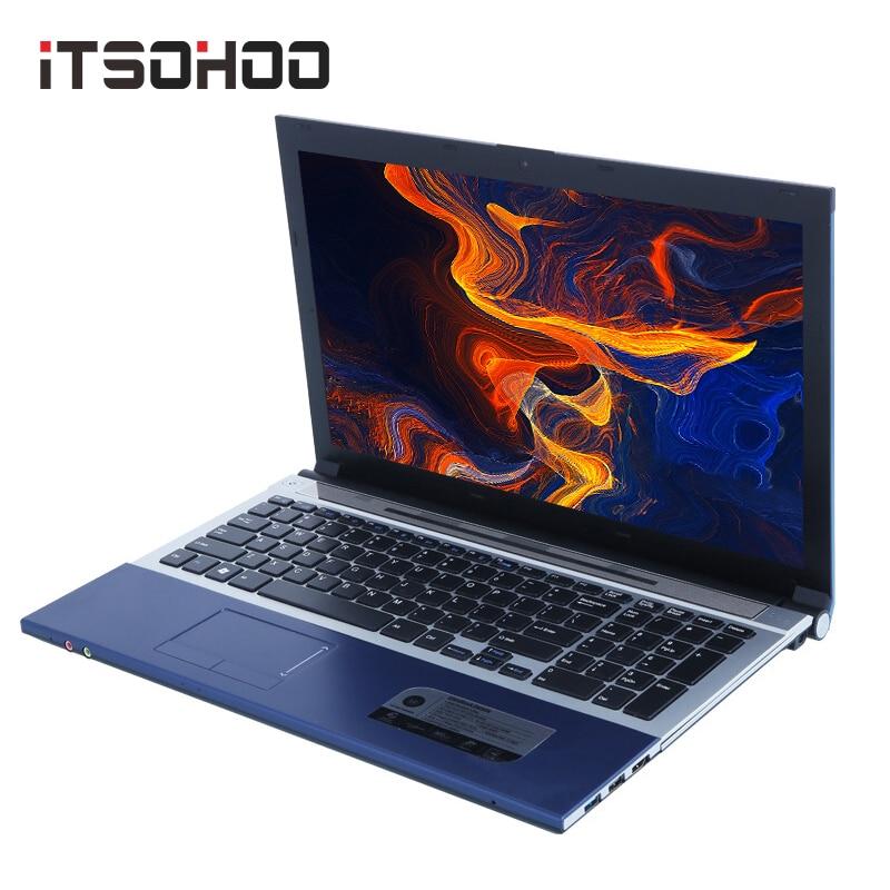 ITSOHOO ordenador portátil para videojuegos de 8GB de RAM de 1000GB Intel Core i7 de 15,6 pulgadas con DVD RJ45 Win10 ordenador portátil para uso doméstico de oficina