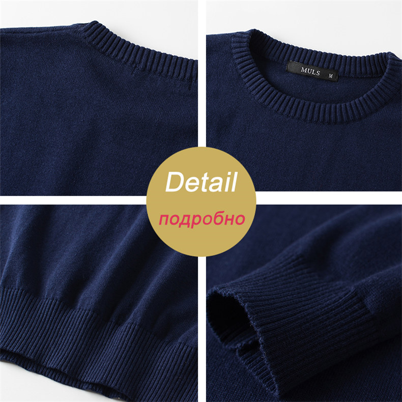 MuLS 2019 Sweater Pollovers Men Casual Cotton Knitted Sweater Jumper Pullover Round-Neck Knitwear Polo Jersey Men Plus Size 5XL 06