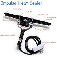 Máquina de sellado de calor de impulso a Almumin sellador de bolsas de aluminio Equipo de Embalaje práctico herramienta eléctrica 220V