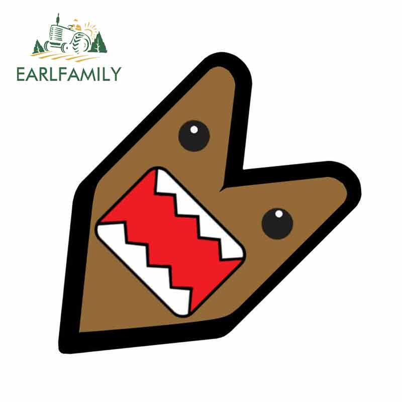 EARLFAMILY 13cm x 12.7cm JDM WAKABA BADGE DOMOKUN DOMO KUN Car Decal Flag Not Vinyl Car Sticker Waterproof Car Styling