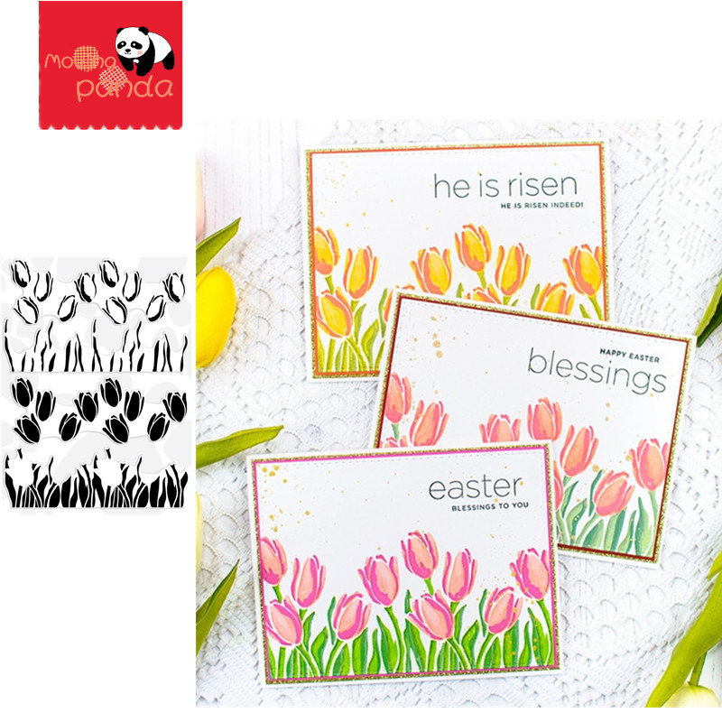 LAYERED TULIPS Metal Cutting Dies And Stamps SStencil For Album Paper DIY Gift Card Decoration Embossing Dies New 2020