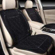 1 szt. 12V podgrzewane siedzenie samochodu poduszka innowacyjna technologia nowa zimowa poduszka rozgrzewająca samochód jeszcze bardziej komfortowe ogrzewanie