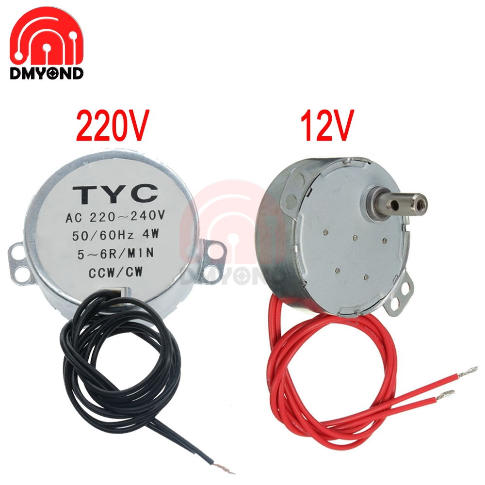 5-6 r/min Stable Synchronous <font><b>Motor</b></font> Pro TYC-50 AC <font><b>220V</b></font> 12V 50/60Hz Torque 4KGF.CM 4W CW/CCW Microwave Turntable for <font><b>Electric</b></font> Fan image