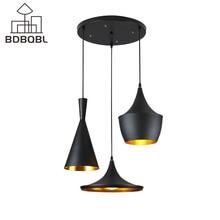 BDBQBL 3 Teile/los Vintage Anhänger Lichter LOFT Lampe Musik Nordic Anhänger Lampe Suspension Leuchte Hause Industrielle Beleuchtung