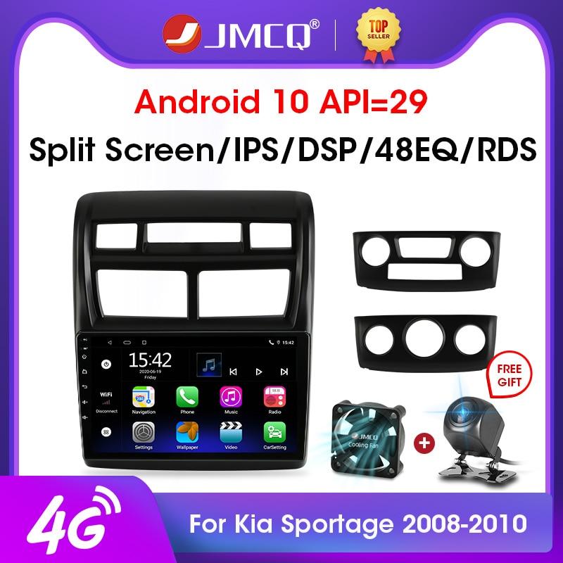 Автомагнитола JMCQ, 2 din, 2 + 32 гб, Android 10, 4G + WiFi, мультимедийный видеоплеер для Kia Sportage 2 2008-2010, GPS-навигация, головное устройство 2 din
