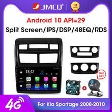 JMCQ 2Din 2 + 32G Android 10 4G + WiFi Radio Multimedia Player De Vídeo Do Carro Para Kia Sportage 2 2 2008-2010 navegação GPS Unidade de Cabeça din