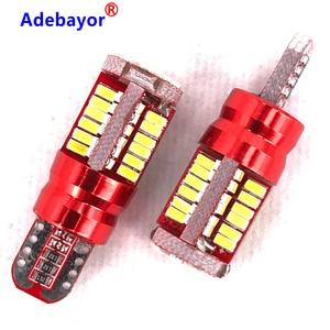 Image 1 - 500pcs Super BrightT10 194 168 W5W 3014 57 LED SMD  Car Side Wedge Auto Wedge License Parking Light Adebayor