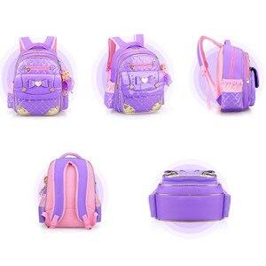 Image 3 - Sevimli prenses Schoolbag su geçirmez çocuk okul çantaları kızlar için karikatür sırt çantası kız Schoolbag çocuklar kitap çantası Mochilas