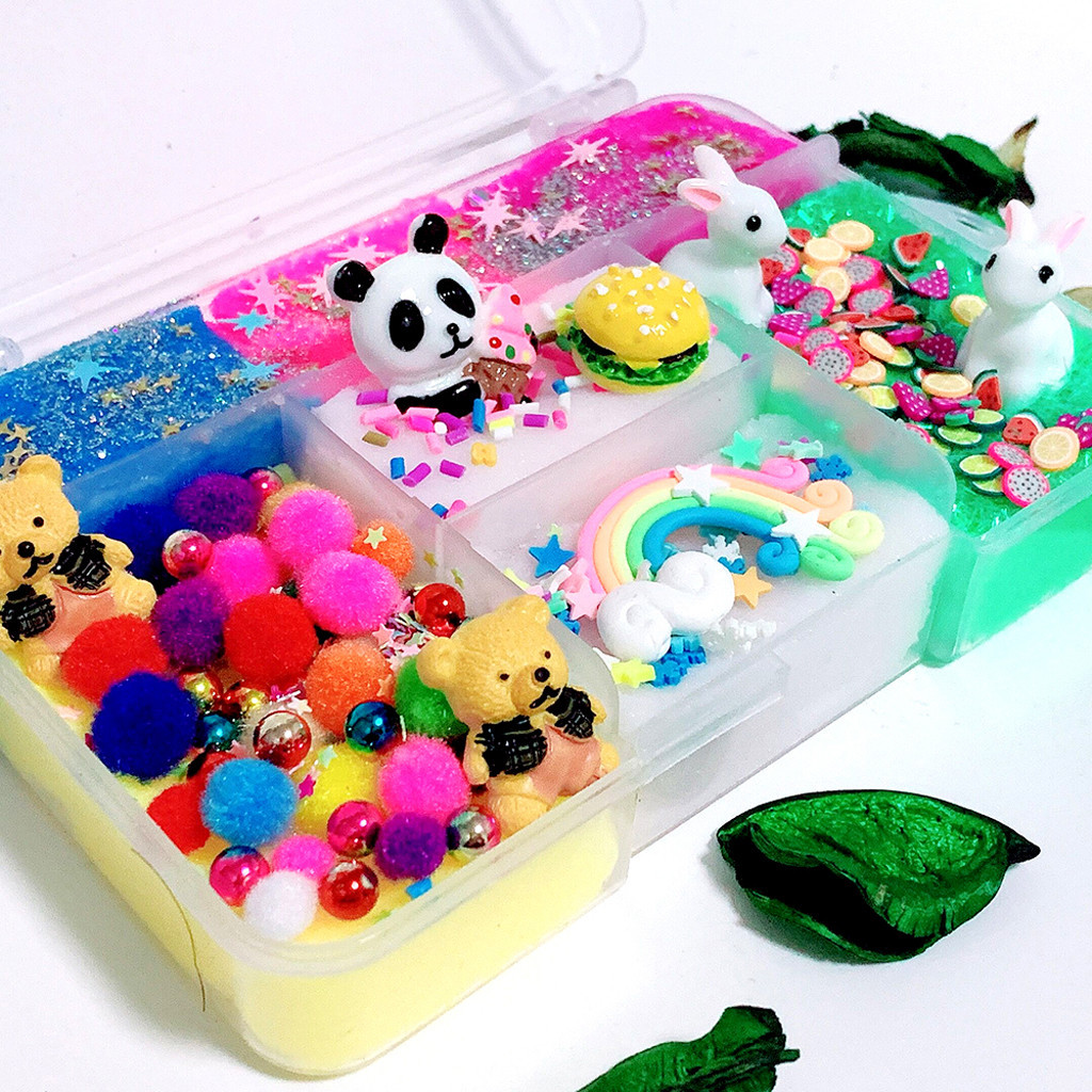 Lovely Cloud Snow Slime Panda Slime Kids Relief Stress Toys Gift Exquisite Fun Fluffy Slime Soft Clay Anti Stress #C