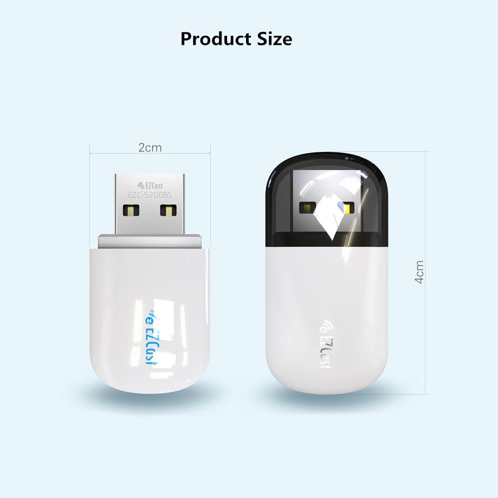 600 Мбит/с двухдиапазонный беспроводной usb-адаптер Wi-Fi адаптер 5G/2.5G Bluetooth стационарного персонального компьютера