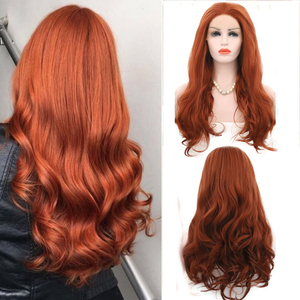 Charisma Body Wave Lace Front Wigs Free Part Red Wig Synthetic Lace Front Wig High Temperature Fiber Hair Women Wigs(China)