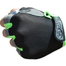 Guantes de ciclismo deportes medio dedo sin dedos guantes transpirables antideslizantes multicolor