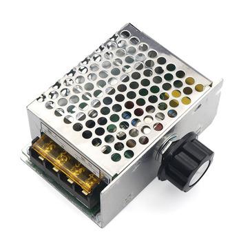 AC 110-220V 4000W tyrystor wysokiej mocy SCR regulowany Regulator prędkości silnika ściemniacze ściemniacze Regulator napięcia termostat moduł tanie i dobre opinie Other NONE CN (pochodzenie)