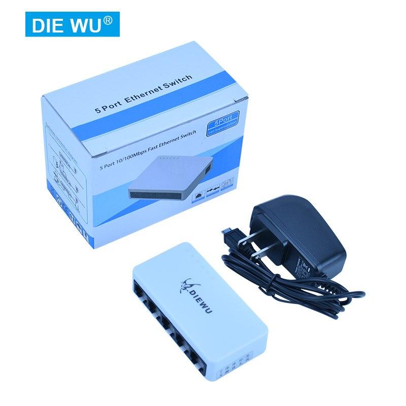 TXE108 5 Port 10/100Mbps MINI fast Ethernet Switch MICRO USB powered Desktop Network Switches Adapter,Auto MDI-MDIX RJ45 6