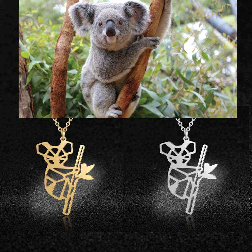 100% Real Stainless Steel Coala Bear Necklace Special Gift Super Quality Amazing Design Italy Design