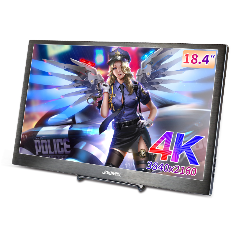 18.4 Inch IPS Type-C 4K 3480*2160 Portable Screen for Switch PS4 Pro Xbox 60Hz HDMI HDR Monitor PC Laptop 17.3 Gaming Monitor image