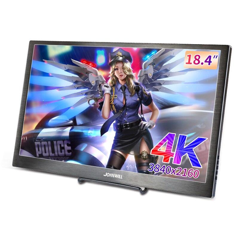 18,4 Zoll IPS Typ-C 4K 3480*2160 Tragbare Bildschirm für Schalter PS4 Pro Xbox 60Hz HDMI HDR Monitor PC Laptop 17,3