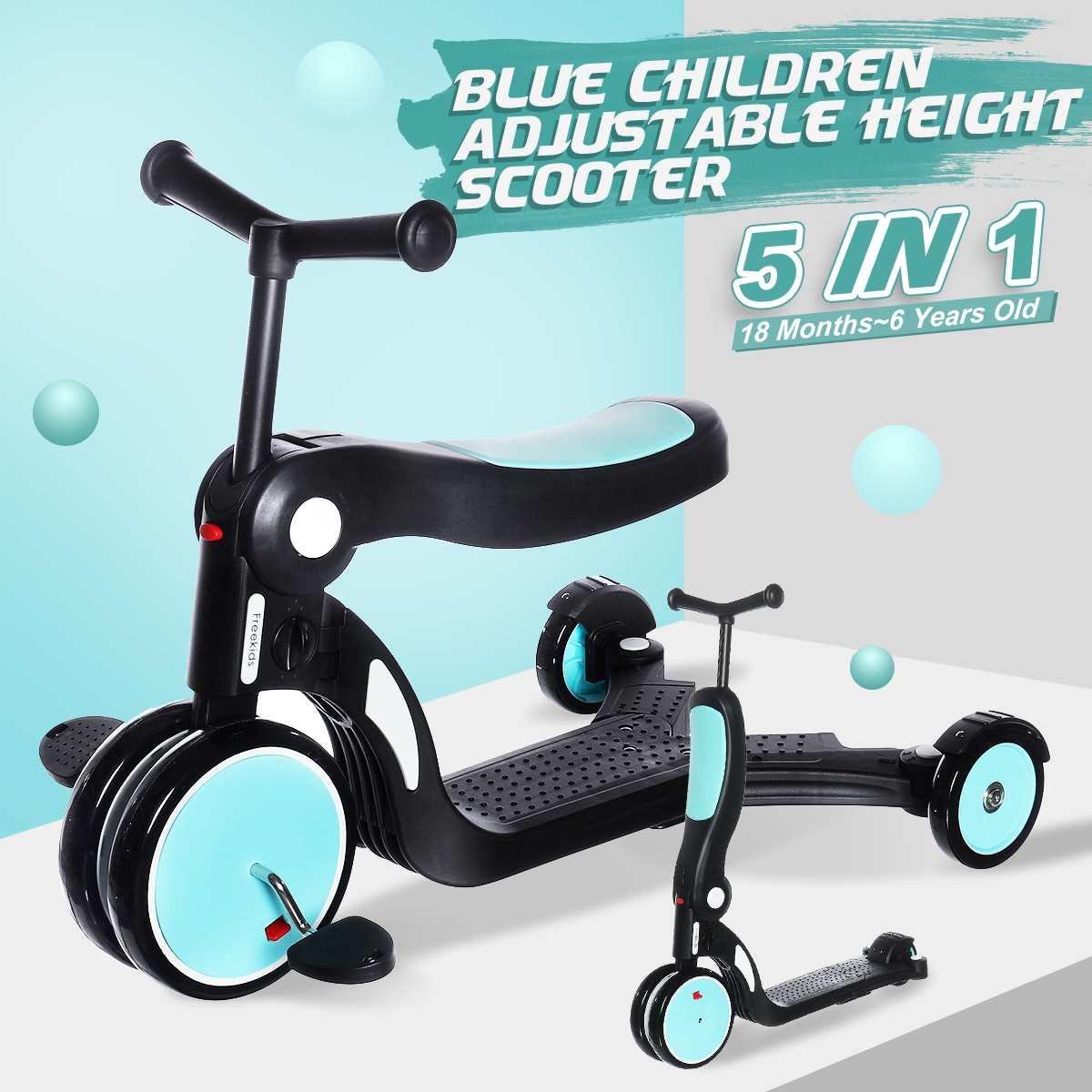 5 In 1 Children Scooter Skateboard 3 Wheel Infant Shining Scooter-Car Baby-Walker Kids Flashing Push Scooter
