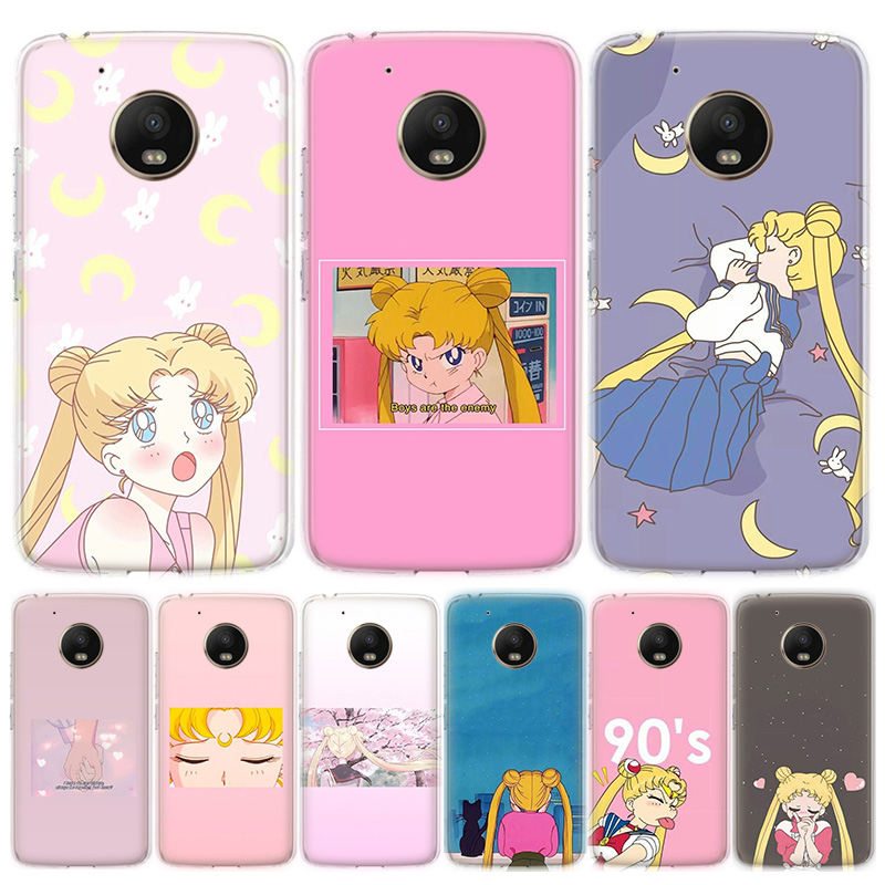 Cartoon Sailor Moon Anime Phone Case For MOTO Motorola G8 E4 E5 E6 G7 G6 G5S Plus Play Power ONE Action Cover Coque Soft Silicon