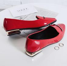 Sexy red women shoes fashionable ballerina flats elegant office work patent leather casual zapatos mujer