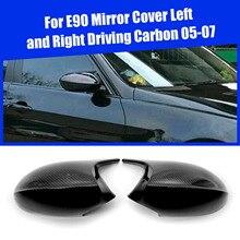 1 para czarny błyszczący M3 styl osłona na lusterko boczne czapki zamiennik dla BMW E90 E91 E92 E93 akcesoria samochodowe