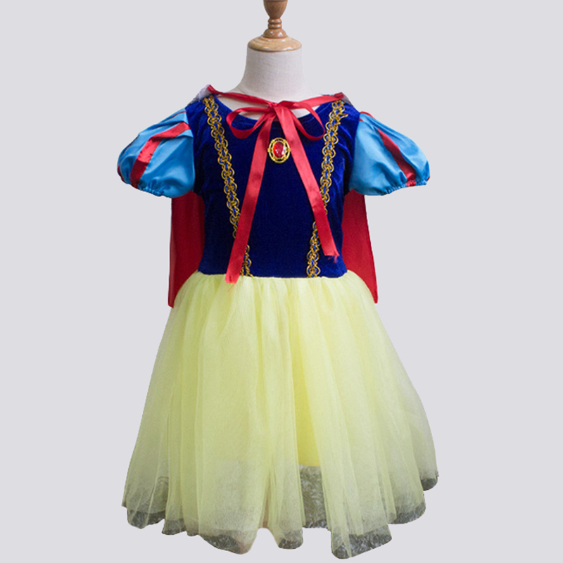 Girls Dress Christmas Cinderella Princess Dress Children's Stage Performance Show Wear Cloth Cosplay Costume Dresses with Stole