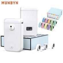 Munbyn bluetooth impressora de etiquetas portátil mini etiqueta fabricante etiqueta etiqueta impressora para escritório em casa uso presentes aniversário android ios
