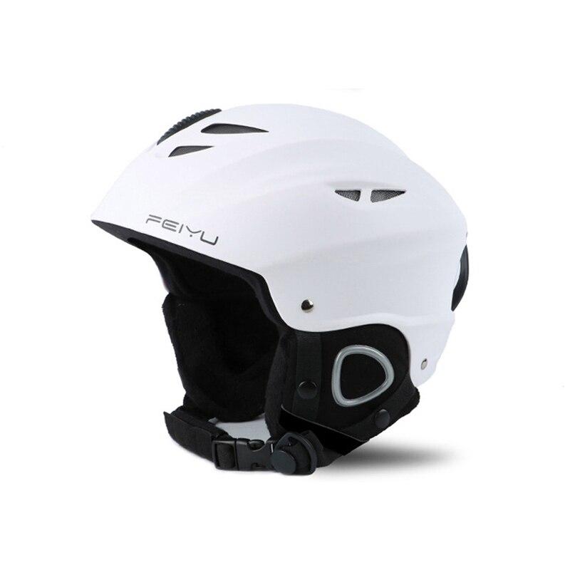 Casque de Ski ABS Shell + Eps couche intérieure froid chaud Anti-chute porter universel pour les femmes hommes casque de Ski professionnel casque de protection - 3