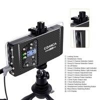 Comica Cvm Ws60 mini sistema de microfone sem fio (dois transmissores um receptor) para smartphones e câmeras  uhf 12 canais 6|Microfones| |  -