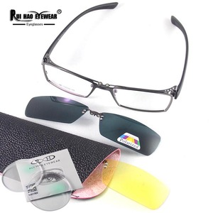 Image 5 - Customize Prescription Eyeglasses Optical Glasses Fill Resin Lenses Myopia Spectacles Fashion Glasses Frame Clip on Sunglasses