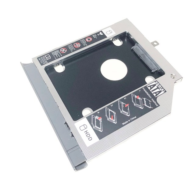 """Bezel Front Cover Faceplate + Bracket 2nd SATA 3.0 2.5"""" Hard Drive HDD SSD Optical Caddy for Lenovo ideapad 320 330 520"""
