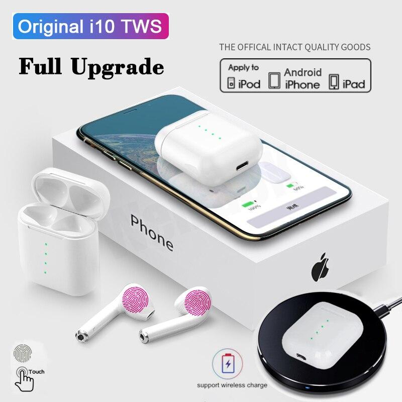 I10 Tws Bluetooth V5.0 Earphone Air Wireless Earphones Stereo Headphones Sport Handsfree Earbuds Headset For Apple IPhone Xiaomi
