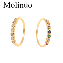Molinuo new simple cubic zirconia ring European and American fashion popular female jewelry 2019