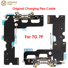 SZteam 1 10 adet/grup orijinal şarj flex iPhone 7 7G 7P şarj flex orijinal çekti Mic için şarj kablosu 7 7P