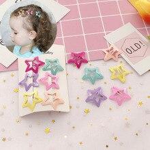 6Pcs/Set Korean Fashion Hairpin Kids Girls Hair Accessories Headdress Cute Star Clips Metal BB Barrettes