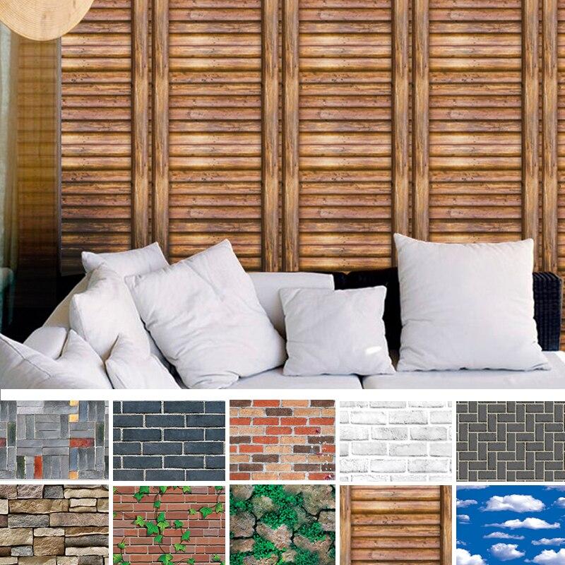 Наклейки для украшения дома аксессуары 45x100 см плитка кирпичная