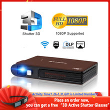 Caiwei s6w portátil bolso mini projetor dlp 3d led suporte completo hd vídeo wifi móvel beamer smartphone cinema em casa proyector