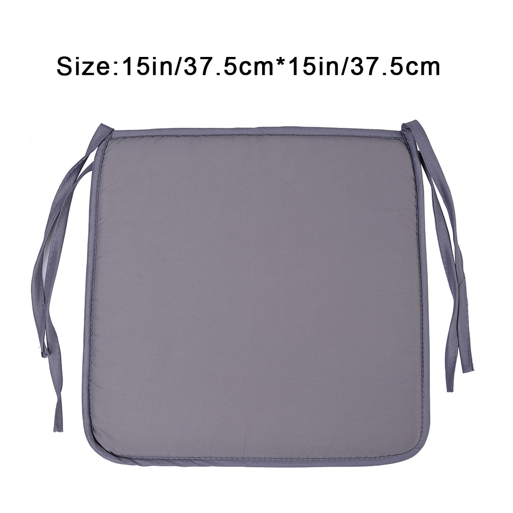 Image 5 - 37X37cm Chair Pad Cushions Seat For Home Office Dinning Chair Solid Color Indoor Outdoor Seat Chair Pad Home Decor-in Cushion from Home & Garden