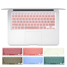 ESPL Laptop Keyboard Cover for Mac Book Air 13 Pro 15 Inch A1466 A1502 A1278 A1398 US Color Silicon Keyboard  Protective Film