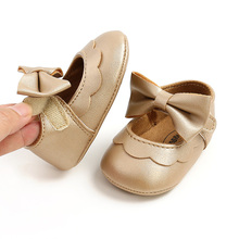 Baby Shoes First-Walkers Soft-Sole Infant Toddler Cute Non-Slip Bowknot Pu