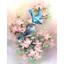 5D DIY Diamond Painting Flowers and birds 3D Diamond Embroidery Sale Full Square Picture Of Rhinestones art Decor Painting TY594(China)